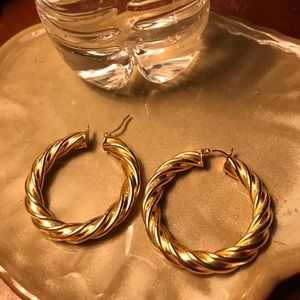 QVC Milor twisted hoops